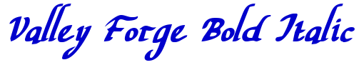 Valley Forge Bold Italic font